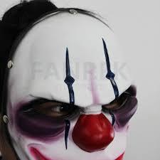 payday 2 the heist joker clown mask costume props halloween mask