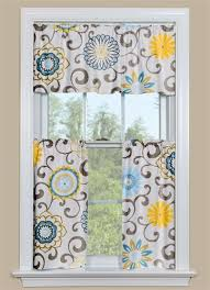 Blue And Yellow Kitchen Curtains Decorating Great Bright Colorful Kitchen Curtains Decorating With Best 25