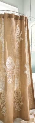 Burlap Shower Curtains Burlap Shower Curtain Pinteres