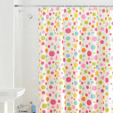 Bright Shower Curtains Dot Swirl Bright Fabric Shower Curtain Bathroom Decor Dot Swirl