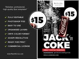 jack and coke flyer template flyerheroes