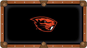 state pool table cloth w beavers logo by hainsworth
