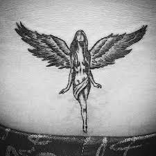with wings lower back blurmark