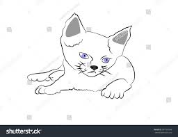 sketch kitten icon stock vector 681554338 shutterstock