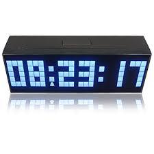 riorand large big number jumbo led snooze wall desk alarm clock