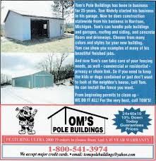 How Much Does It Cost To Build A Pole Barn House by Tom U0027s Pole Buildings Home Facebook
