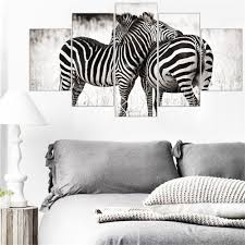 online buy wholesale zebra print canvas wall art from china zebra frame 5 pieces canvas wall art zebra animal canvas painting oil frame print wall art pictures