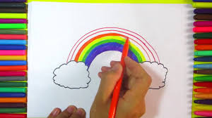 how to draw beautiful drawing rainbow drawing how to draw beautiful rainbow for