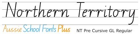 northern territory modern cursive style nt cursive and running