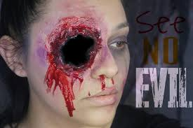 evil halloween makeup see no evil speak no evil hear no evil part 1 see no evil