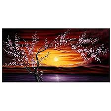 wieco plum tree blossom flowers large modern