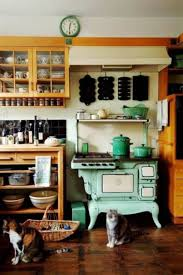 english country kitchens with vintage stove range with open