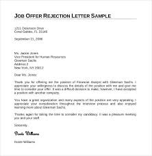 how to write a polite job offer rejection letter letter idea 2018