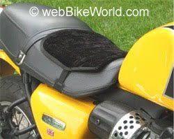 buffer motorcycle seat pad review webbikeworld