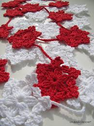 christmas crochet pattern snowflake garland christmas