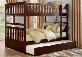 Cherry Bunk Bed Rowe Cherry Bunk Bed With Trundle For 629 94