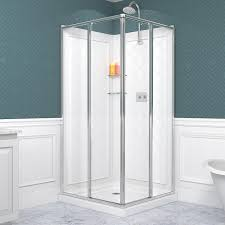 Small Corner Showers Bathrooms Small Corner Shower Stall Dreamline Shower Doors