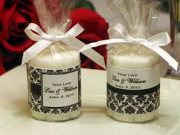 candle wedding favors lmk gifts exclusively designed damask candle favors
