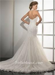 designer mermaid sweetheart halter beaded lace wedding dress with