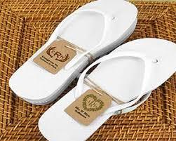flip flop wedding favors wedding flip flops w monogram kraft tag black or white available