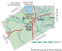 Texas State Park Map by Somervell County The Handbook Of Texas Online Texas State