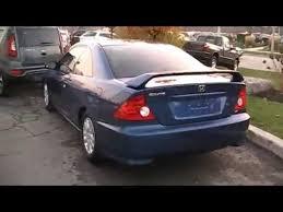 2005 Honda Civic Coupe Interior 2005 Honda Civic Si Coupe Startup Engine U0026 In Depth Tour Youtube