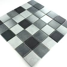 ceramic mosaic tiles grey mix non slip www mosafil co uk
