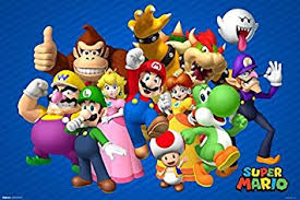 amazon nintendo super mario brothers wii video game poster