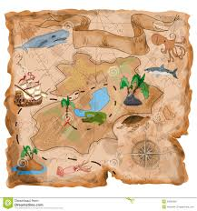 Treasure Island Map Treasure Island Map Stock Illustration Image Of Paper 35834961