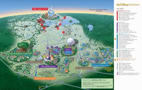 Florida Attractions Map by Disneyworld Map Disney World Map Map Of The Disney World In