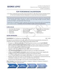 Salesperson Skills Resume Sample Resumes U2014 Career Story