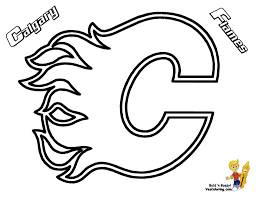ice hard hockey coloring nhl west flames crayon match colors