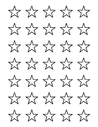 star outline images 1 inch star pattern use the printable outline