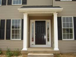 White Front Door Black And White Home Front Door With Clear Glass Fanlights