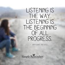 quote with knowledge comes power listening is the way by bryant mcgill with article by steve mcswain