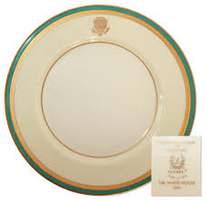 lot detail president harry truman official white house china plate