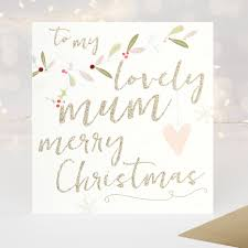 lovely mum merry christmas luxury card caroline gardner