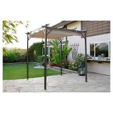 Image Of Pergola by Pacific Casual 8 U0027 X 8 U0027 Steel Pergola With Retractable Top Target