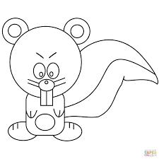 cartoon squirrel coloring free printable coloring pages