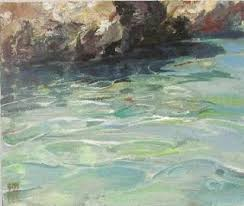 paint places oil painting seascape tepid water cornish art gallery