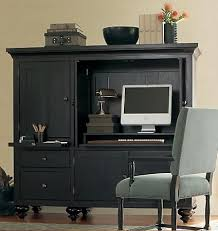 Black Computer Armoire Computers Armoire To Organize Your Home Office Stanleydaily