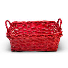 wicker basket large red russell stover