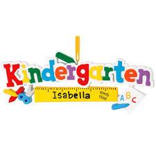 personalized kindergarten ruler ornament bronner s