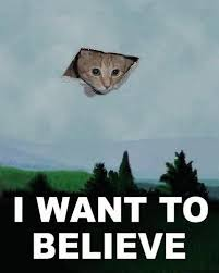 Cat Alien Meme - i want to believe know your meme