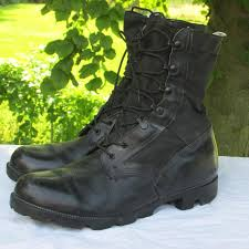 womens black combat boots size 11 size 11 black leather combat boots with canvas field