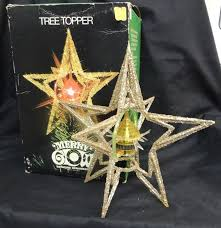 vintage merry glow rotating ornament tree topper