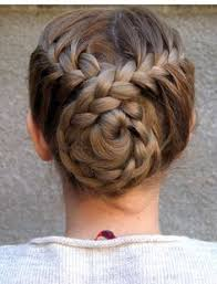 hairstyles for gymnastics meets trenzas flower pinterest bun hairstyle gymnastics and