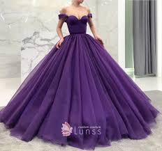 purple tulle amazing purple tulle the shoulder gown prom dress lunss