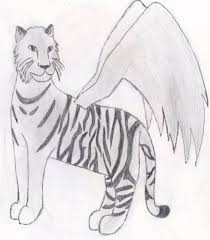 white tiger with wings by jezahnaart on deviantart