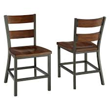 Kitchen Chairs Furniture Homesullivan Walker White Wood And Metal High Back Dining Chair